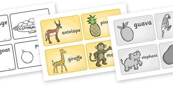 Handa's Surprise Story Sequencing (4 per A4) - Handa's Surprise, Eileen Browne, resources, Handa, Akeyo, mango, guava, Africa, avacado, passion fruit, monkey, African animals, story, story book, story book resources, story sequencing, story resources