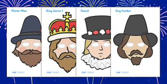The Gunpowder Plot Role Play Masks - Story, Bonfire night, role play mask, masks, Guy Fawkes, bonfire, Houses of Parliament, plot, treason, fireworks, Catholic, Protestant, James I