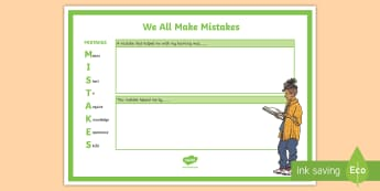 My Mistakes Are My Goals Desk Mat - mistakes, goals, goal setting, new zealand, growth mindset