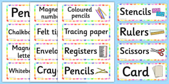 Handprints Themed Writing Area Resource Labels - handprints