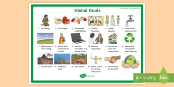 Global Goals Display Poster - Sustainable Development Goals, Eco Schools, UNICEF, Sustainable Living, Global Goals,Scottish