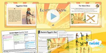 History: Ancient Egypt: Egyptian Gods UKS2 Lesson Pack 6