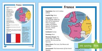 Map Of France Ks2.France Ks2 Geography Resources