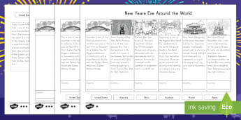 New Year's Eve Around the World Differentiated Activity Sheets - New Year's Eve, differentiated, around the world, activity, january, non-fiction, social studies
