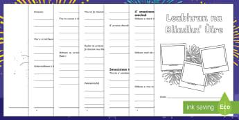 Cfe- An Dàrna Ire- Leabhran na Bliadhn' ùire- Activity Booklet-Scottish - Cfe, An Dàrna Ire, sgrìobhadh, taragaidean, amasan, A' bhliadhna ùr,Scottish