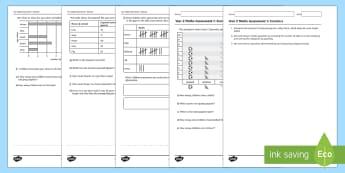 Year 2 Statistics Assessment 1 Assessment Test - year 2, statistics, assessment,Australia