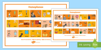 Homophones Visual Word Mat - homophones, visual, word mat, word, mat