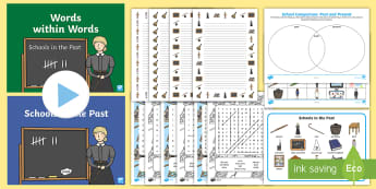 KS1 Schools in the Past Project Resource and Activity Pack - Old, Victorian, Teaching, History, Now and Then
