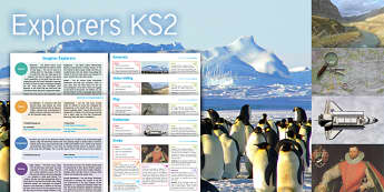 Imagine Explorers KS2 Resource Pack - antarctic, indus valley, map, endeavour, drake, maths, Temperature, measure, coordinates, English, e