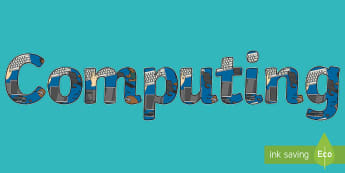 Computing Title Display Lettering - Computing Display Lettering - ICT, letters, display, computers, letering, display ettering, display