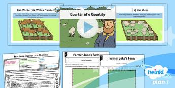 PlanIt Maths Y1 Fractions Lesson Pack Quarters (2)