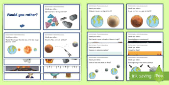 Australia - Would You Rather...? Earth and Space Sciences Years 5-6 Question Cards - ACSSU078, solar system, planets, ACSSU096, tsunami, volcano, earth movement, would you rather, scien