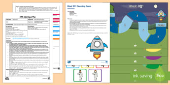 EYFS Blast Off! Counting Game Adult Input Plan and Resource Pack - mathematics, number, counting, irregular arrangement, objects, number names, EYFS, Early Years Plann