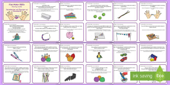 Fine Motor Skills Activity Cards English/German - EAL, German, challenges, detail, steady, hand, puzzles,German-translation