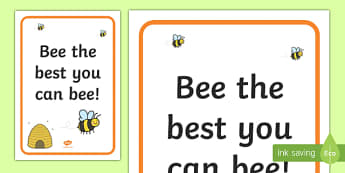 Bee the Best you can Bee! Display Poster