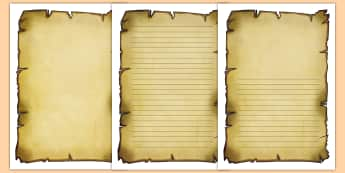 Burnt Paper Writing Frames - Pirates Scroll Page Borders - Page border, border, Pirate, Pirates, Topic, pirate, pirates, treasure