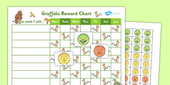 Gruffalo Reward Sticker Chart - gruffalo, reward, sticker, chart