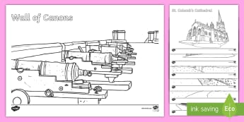 Derry-Londonderry Colouring Pages - The City of Londonderry, Derry, derry-londonderry, derry/londonderry, walls, canons, cathedral, rive