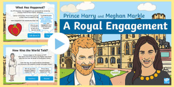 KS1 Royal Engagement Information PowerPoint - Royalty, Prince Harry, Meghan, Engaged, To Be Wed, royal wedding