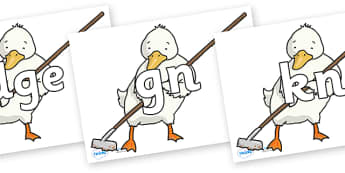 Silent Letters on Farmer Duck With Hoe - Silent Letters, silent letter, letter blend, consonant, consonants, digraph, trigraph, A-Z letters, literacy, alphabet, letters, alternative sounds