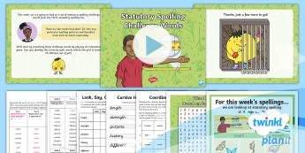 PlanIt Spelling Year 4 Term 2B W6: Statutory Spelling Challenge Words Spelling Pack - Spellings Year 4, spelling, y4, weeks, weekly, lists, spag, gps, statutory spellings, challenge, com