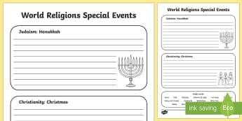 Jewish and Christian Celebrations Activity Sheet - KS1 World Religion Day 15th January, Judaism, Jewish celebrations, Christianity, Christian celebrati