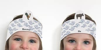 Chinese New Year Story Role Play Headbands - role-play, headbands