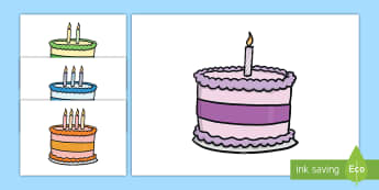 0-10 birthday cakes Display Cut-Outs - 0-10 Birthday Cakes Display Cut-Outs - Birthday, cake, candles, birthday poster, birthday display, m