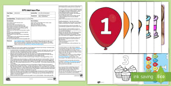 How Old Is Birthday Bear? Adult Input Plan and Resource Pack - Numerals, Number,  Recognition, Maths, Age, Cards, Early Years Planning, Foundation, Adult Led.