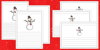 Frosty the Snowman Writing Frames Pack - Priority Resources, snowman, frosty the snowman, writing frame