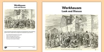 The Great Famine - Workhouses: Look and Discuss - gaeilge, the famine, great famine, workhouses, look and discuss, ireland history