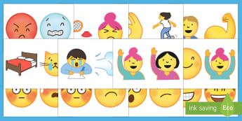 Emoji Faces Display Cut-Outs - Emoticons, Emotions, Expressions, Mood, Pictures, Decoration, Smiley