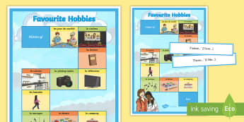 Favourite Hobbies Board Game French - French Games, french hobbies, french free time, french preferences, french board games.,Scottish-tra