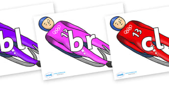 Initial Letter Blends on Luge - Initial Letters, initial letter, letter blend, letter blends, consonant, consonants, digraph, trigraph, literacy, alphabet, letters, foundation stage literacy