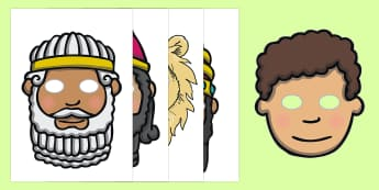 Daniel and the Lion's Den Story Role Play Masks - usa, america, Daniel and the Lions, Daniel, Lions, lion pit, role play mask, role play, masks, Babylon, King Darius, governors, God, pray, den, bible story, bible