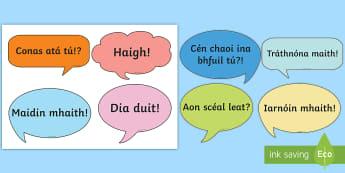 Cártaí Beannaithe - bainistiú ranga, classroom management, foclóir, vocabulary, frásaí úsáideacha, useful phrases,