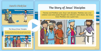 Jesus' Disciples Story PowerPoint - Christian story, Bible story, friendship story, disciples, following, friends, special
