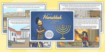 The Story of Hanukkah Romanian Translation - Romanian, Judaism, Jewish Festival, menora, light