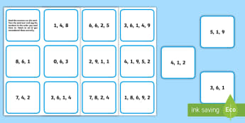 CfE First Level Working Memory Number Recall Cards  - cognitive, long term, short term, ability, Memory Skills,Scottish