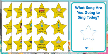 Song Stars Cut-Outs - Expressive Arts and Design, music, singing, rhymes, nursery rhymes, songs, phonics, singing school,
