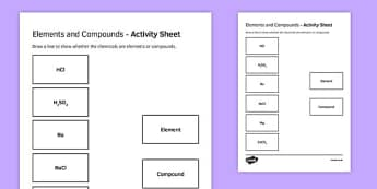 Elements and Compounds Match and Draw