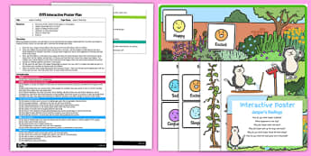 EYFS Jasper's Feelings Interactive Poster Plan and Resource Pack to Support Teaching on Jasper's Beanstalk
