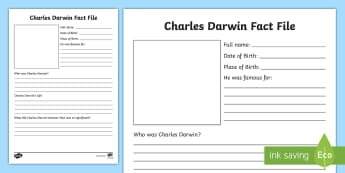 Charles Darwin Primary Resources Significant Individuals