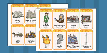 The Great Fire of London Flashcards Romanian Translation - romanian