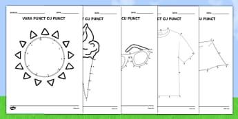 Vara - Unește punctele - vara, unește punctele, acivitate, fișă de lucru, materiale didactice, română, romana, material, material