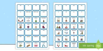 Construiește propoziții cu cuvinte pe tema iernii Cartonașe  - iarna, haine, îmbrăcăminte, comunicare, cum ne îmbrăcăm, vocabular pe tema iernii, imagini de