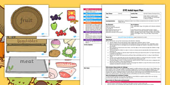 Harvest Produce Sorting EYFS Adult Input Plan and Resource Pack - harvest
