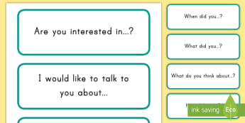 Conversation Starters Cards  - conversation, cards, communication, discussing