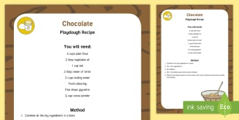 Chocolate Playdough Recipe - chocolate, playdough, recipe, eyfs