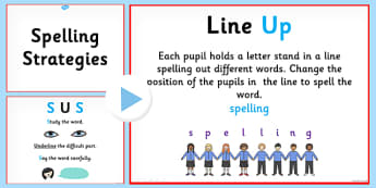 Spelling Strategies PowerPoint - spelling strategies, how to spell, learning to spell, different spelling strategies, ks2 spelling strategies, literacy